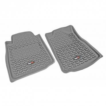 Rugged Ridge - Rugged Ridge Floor Liners, Front, Gray (2005-11) Toyota Tacoma, Automatic