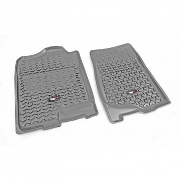 Rugged Ridge - Rugged Ridge Floor Liners, Front, Gray (2007-14) GM Fullsize Pickup/SUV