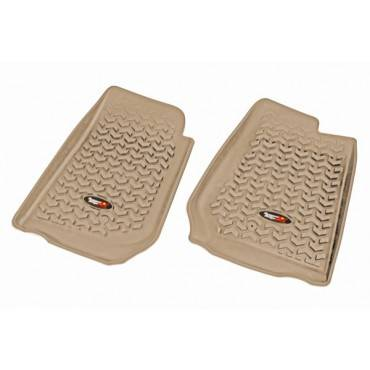 Rugged Ridge - Rugged Ridge Floor Liners, Front, Gray (2007-15) Jeep Wrangler/Unlimited JK RHD