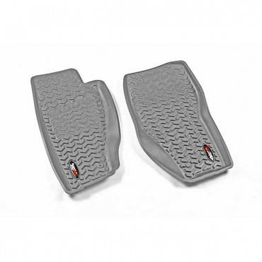 Rugged Ridge - Rugged Ridge Floor Liners, Front, Gray (2008-12) Jeep Liberty KK