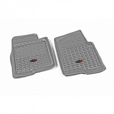Rugged Ridge - Rugged Ridge Floor Liners, Front, Gray (2009-10) Ford F-150 Ext/Reg/SuperCrew