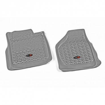 Rugged Ridge - Rugged Ridge Floor Liners, Front, Gray (2011-12) Ford F-250/F-350 Reg/Ext/SuperCrew