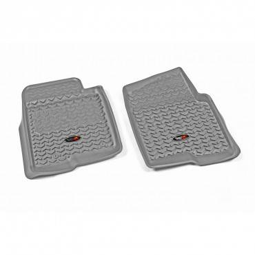 Rugged Ridge - Rugged Ridge Floor Liners, Front, Gray (2011-14) Ford F-150