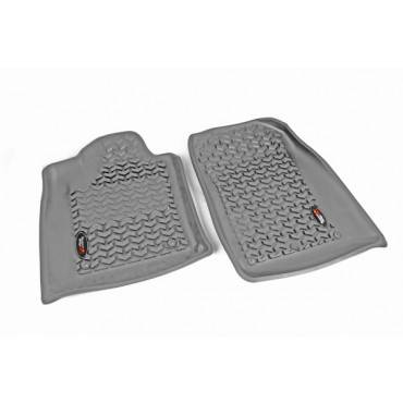 Rugged Ridge - Rugged Ridge Floor Liners, Front, Gray (2012-15) Dodge Durango/Jeep Grand Cherokee WK