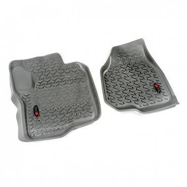Rugged Ridge - Rugged Ridge Floor Liners, Front, Gray (2012-15) Ford F-250/F-350 Reg/Ext/SuperCrew