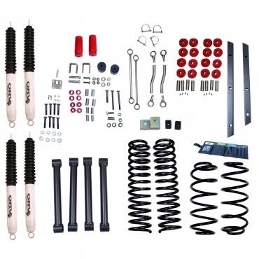 Rugged Ridge - Rugged Ridge 4 Inch Lift Kit with Shocks (1997-02) Jeep Wrangler TJ