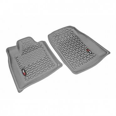 Rugged Ridge - Rugged Ridge Floor Liners, Front, Gray (2011) Dodge Durango/Jeep Grand Cherokee WK