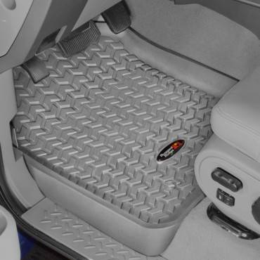 Rugged Ridge - Rugged Ridge Floor Liners, Front, Gray (1999-07) Ford F-250/F-350 Ext/Reg/SuperCrew
