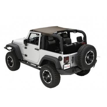 Rugged Ridge - Rugged Ridge Summer Brief Top, Diamond Khaki (2010-15) Jeep Wrangler JK