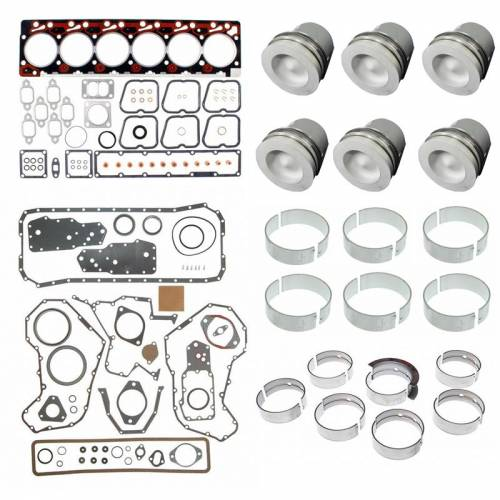 Mahle - Mahle Clevite Engine Overhaul Kit, Dodge (1994-98) 12V 5.9L Cummins, 0.00 Standard Size Pistons