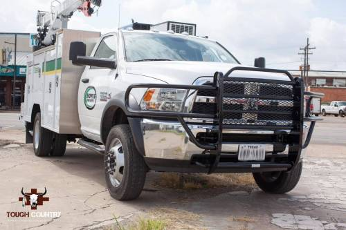 Tough Country - Tough Country Standard Brush Guard with Expanded Metal, Dodge (2010-15) 4500 & 5500 Ram