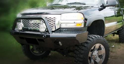 Tough Country - Tough Country Custom Apache Front Bumper, Chevy (2003-07) 2500 HD & 3500 HD Silverado