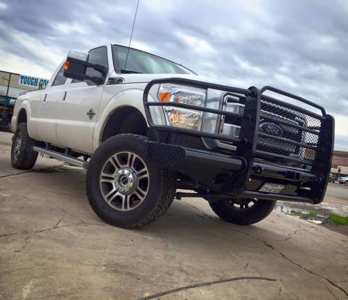 Tough Country - Tough Country Custom Traditional Front Bumper, Ford (2011-16) F-250 & F-350 Super Duty