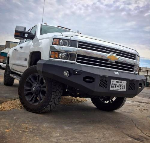 Tough Country - Tough Country Custom Evolution Front Bumper (No Top), Chevy (2015-16) 2500 & 3500 Silverado