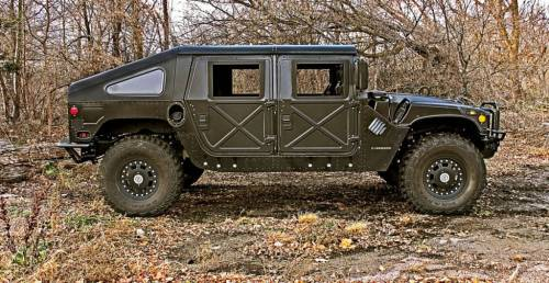 Advanced Vehicles Assembly - AVA Complete Humvee Hard Top with Roll Cage, 4 Door Slant Back