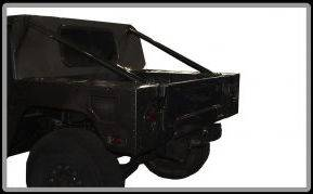 Advanced Vehicles Assembly - AVA Complete Humvee Hard Top with Roll Cage, 4 Door Truck Bed Back