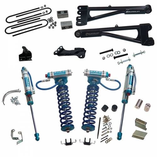 "Superlift - Superlift Suspension Lift Kit, Ford (2011-16) F-250/F-350 6.7L Diesel 4x4, 4"" King Coilover Lift Kit"