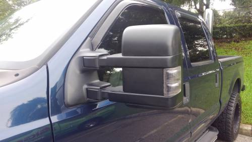 AVP - AVP Mirror Kit, Ford (1999-07) Super Duty & Excursion, Smoked Lens with Amber LED, Power & Heated
