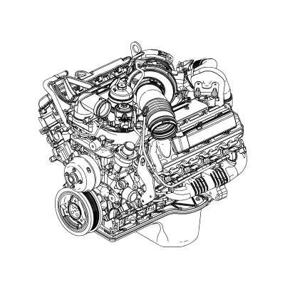 Ford Motorcraft Studded Complete Engine, Ford (2005) 6.0L Powerstroke