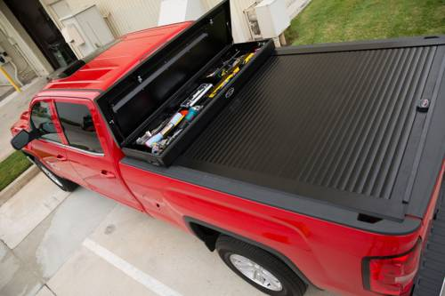 """Truck Covers USA - Truck Covers USA Work Cover, Chevy/GMC (1988-17) 8' (97"""") Long Bed, with Power Actuator"""
