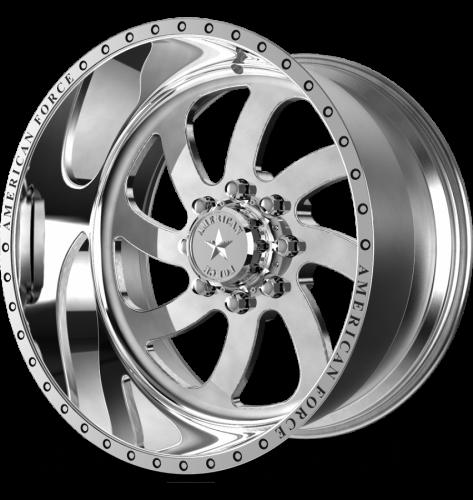"American Force Wheels - American Force Blade SS Wheel, 22""x12"", 8""x6.5"" (Mirror Polished Finish)"