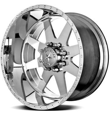 """American Force Wheels - American Force Independence SS Wheel, 22""""x12"""", 8""""x6.5"""" (Mirror Polished Finish)"""