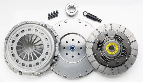 South Bend Clutch - South Bend HD Single Disc Clutch Kit With Flywheel, Dodge (1988-04) 5.9L Cummins 5 Speed GETRAG & NV4500 & NON HO NV5600, 550HP