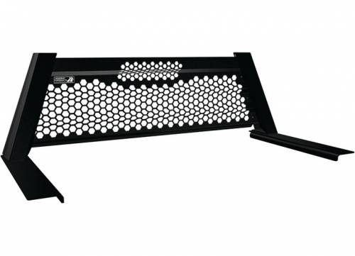 Highway Products - Highway Products Honeycomb Headache Rack, Size 4 (Smooth Black)