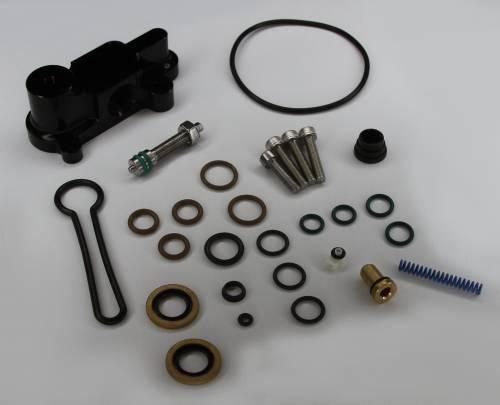 "AVP - AVP Adjustable Fuel Pressure Regulator ""Blue Spring"" Upgrade Kit, Ford (2003-07) 6.0L Power Stroke (Black Housing)"