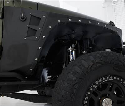 Smittybilt - Smittybilt XRC Armor Front Fender Flare Kit, Jeep (2007-18) JK Wrangler