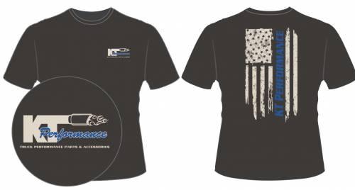 KT Performance T-Shirt Blue Stripe Flag (Medium)