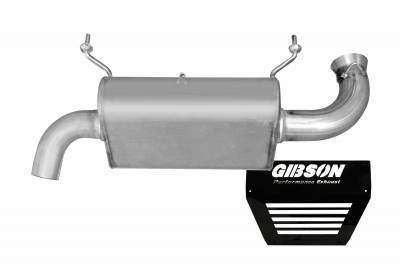 Gibson Performance - Gibson UTV Exhaust, Polaris (2016-20) RZR XP Turbo, Single Exhaust, Stainless