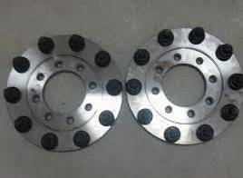 Diamond T Enterprises - Diamond T 10 Lug Dually Wheel Adapters, Ford (1999-04) F-350/F-450/F-550 Dually (front only) (8 on 225)
