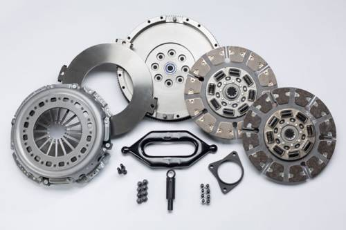 South Bend Clutch - South Bend Clutch Street Dual Disk Kit with Flywheel, Dodge (1999-04) 5.9L 2500-3500 NV4500 & Non-HO NV5600, 550-750hp & 1400 ft lbs of torque