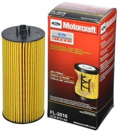 Ford Genuine Parts - Ford MotorcraftFL-2016 Oil Filter, Ford (2003-10) 6.0L/6.4L Powerstroke