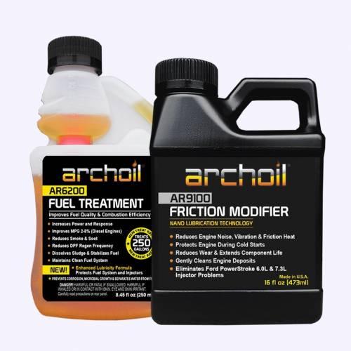 Archoil - Archoil Maintenance Kit 1 (16oz AR9100 oil treatment & 8.oz AR6200 fuel treatment)