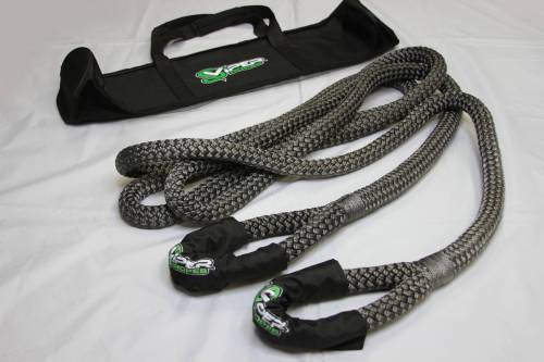 "Viper Ropes - Viper Ropes, 1"" x 20' Off-Road Recovery Rope, Grey"