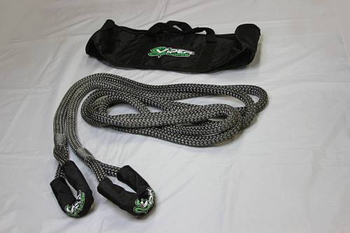 "Viper Ropes - Viper Ropes 3/4"" x 20' Off-Road Recovery Rope, Grey"
