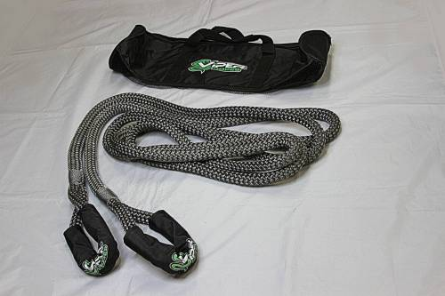 """Viper Ropes - Viper Ropes 7/8"""" x 20' Off-Road Recovery Rope, Grey"""