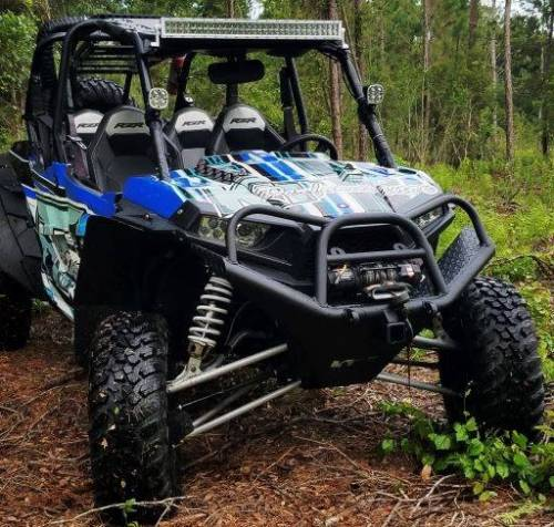 APEX Powersports Products - APEX Extended Fender Flare Kit, Polaris RZR XP 1000, RZR XP 1000-4 (2014-18) Front & Rear
