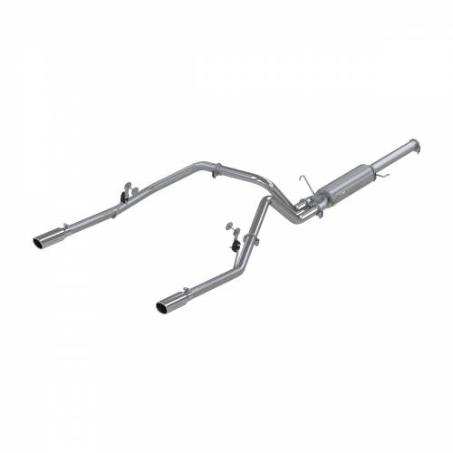 MBRP - MBRP Cat Back Exhaust, Dodge (2004-05) 1500, 5.7L Hemi, Sc/Cc-Sb, Dual Split Rear, Aluminized