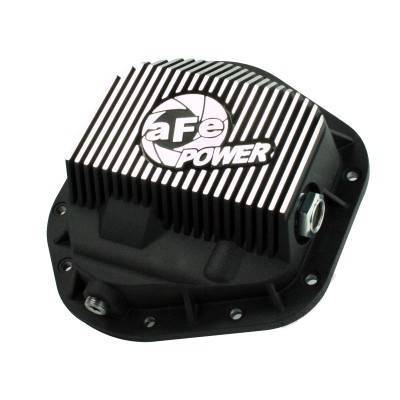 aFe - aFe Front Differential Cover, Ford Diesel Trucks (1994.5-12) 7.3L/6.0L/6.4L/6.7L, Machined Fins