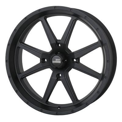 Frontline Tires - Frontline All Terrain 556, Stealth, UTV Wheels - 20x 6.5 wheels, (4/137) 4+2.5 Offset, +10mm
