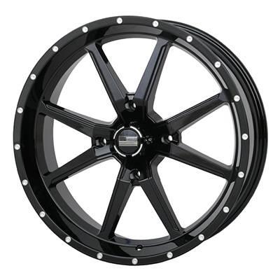 Frontline Tires - Frontline All Terrain 556, Black, UTV Wheels - 20x 6.5 wheels, (4/156) 4+2.5 Offset,+10mm