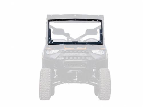 SuperATV - Polaris Ranger XP 1000 Crew, NorthStar Edition, Scratch Resistant Flip Windshield Standard Cab (2019-2020)