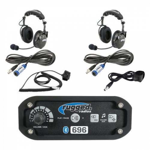 Rugged Radios - Rugged Radios RRP696 2-Place Intercom with AlphaBass Headsets