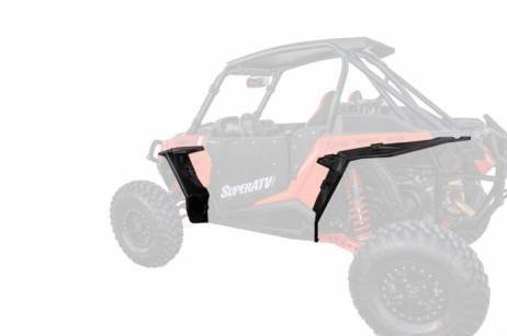KIWI MASTER Front Fender Flares Extensions Compatible for 2014-2021 Polaris RZR 1000 XP Turbo Accessories Extended Mud Flaps Guards