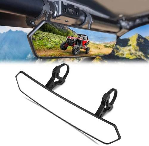 """APEX Powersports Products - APEX Rear View Mirror, 1.65""""-2"""" Clamp"""