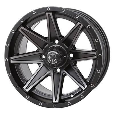 """Frontline Tires - Frontline All Terrain 308, UTV Wheels - 15x7"""" wheel (4/137) 5+2 Offset, +10mm(Matte)"""