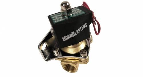 "HornBlasters - Air Horn Electric Valve, 0.5"" Brass"